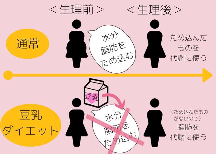 豆乳ダイエット方法 生理前・メカニズム