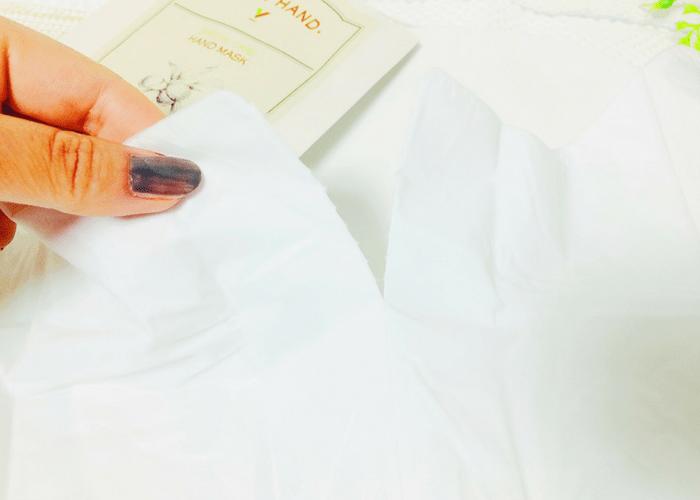 プロ愛用の手袋型ハンドケアのおすすめのやり方・開封画像3