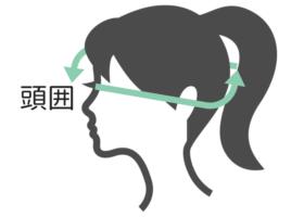 頭囲の画像
